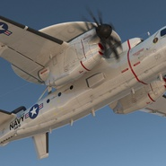 Grumman E-2 Hawkeye Tactical Early Warning Aircraft Rigged. Preview 7