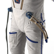 Russian Astronaut Wearing Space Suit Sokol KV2 Rigged for Maya. Preview 38