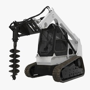 Compact Tracked Loader with Auger. Preview 1