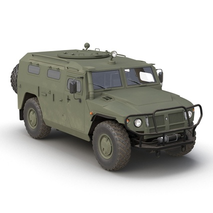 Russian Mobility Vehicle GAZ Tigr M Rigged. Render 7