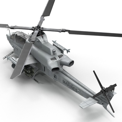 Attack Helicopter Bell AH 1Z Viper Rigged. Render 39