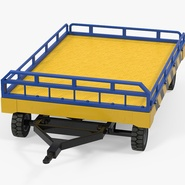 Airport Transport Trailer Low Bed Platform Rigged. Preview 7