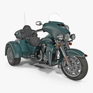 Trike Motorcycle Green Generic
