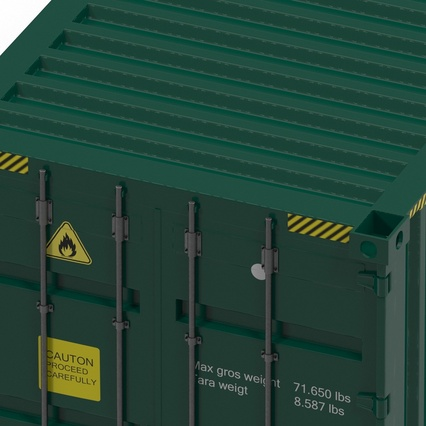 40 ft High Cube Container Green. Render 26