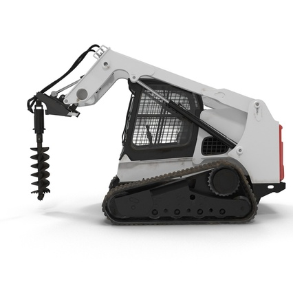 Compact Tracked Loader with Auger. Render 9