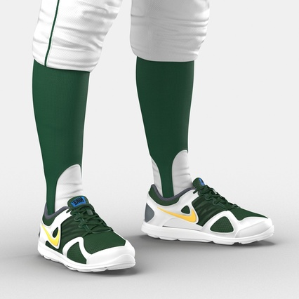 Baseball Player Outfit Athletics 3. Render 26