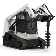 Compact Tracked Loader with Auger. Preview 6