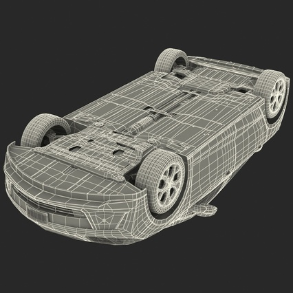 Generic Hybrid Car Rigged. Render 87