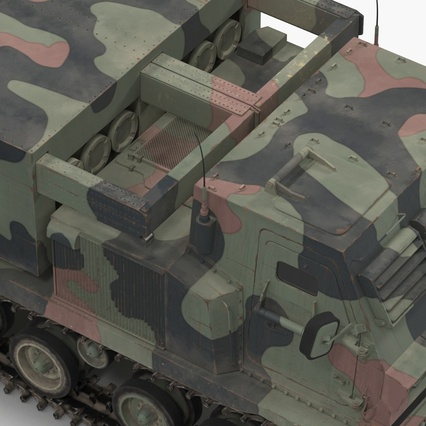 US Multiple Rocket Launcher M270 MLRS Camo. Render 14
