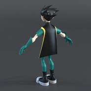 Robin Cartoon Character Rigged for Maya. Preview 12