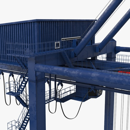 Container Crane Blue. Render 25