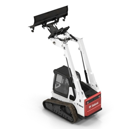 Compact Tracked Loader Bobcat With Blade Rigged. Render 20