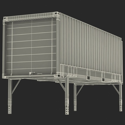 Swap Body Container ISO Blue. Render 28