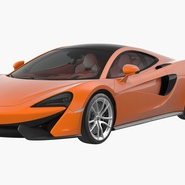 Sports Car McLaren 570GT 2017 Simple Interior. Preview 3