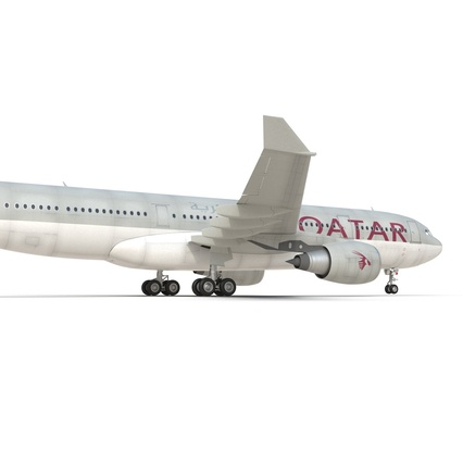 Jet Airliner Airbus A330-200 Qatar. Render 31