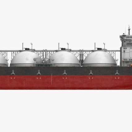 Gas Carrier Ship. Render 5