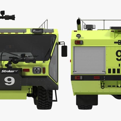 Oshkosh Striker 4500 Aircraft Rescue and Firefighting Vehicle Rigged. Render 25