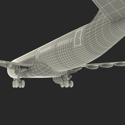 Jet Airliner Airbus A330-200 Northwest Airlines Rigged. Render 68