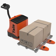 Powered Pallet Jack and Plastic Pallet Set