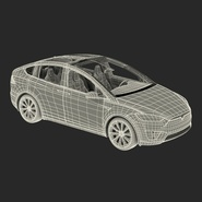Tesla Model X Rigged. Preview 83