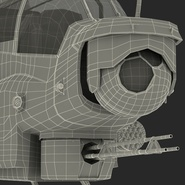 Attack Helicopter Bell AH 1Z Viper Rigged. Preview 121