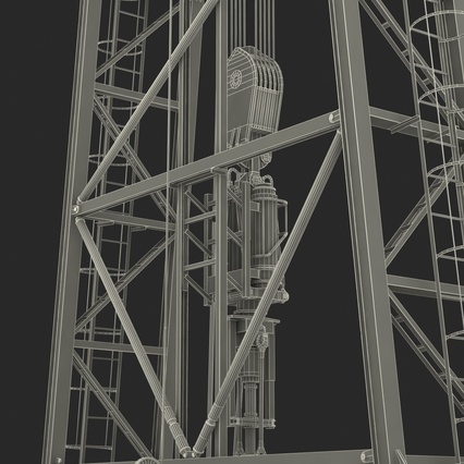 Fracking Gas Platform. Render 61