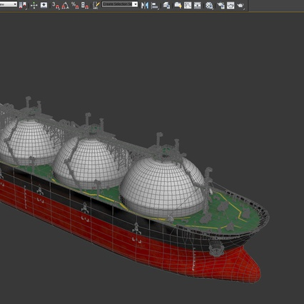 Gas Carrier Ship. Render 27
