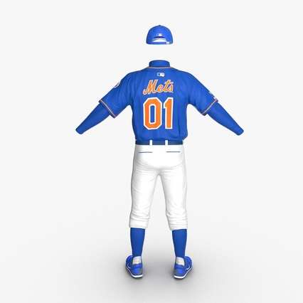 Baseball Player Outfit Mets 2. Render 7