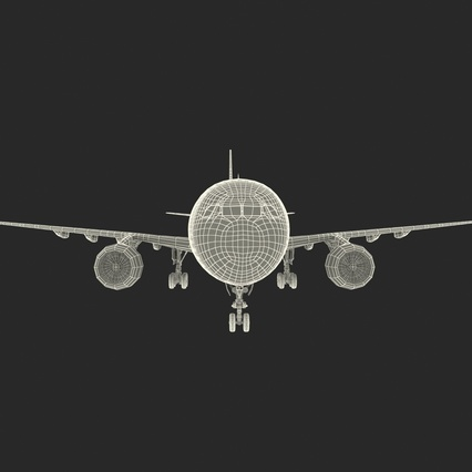 Jet Airliner Airbus A330-300 Qatar Rigged. Render 59