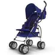 Baby Stroller Blue. Preview 6