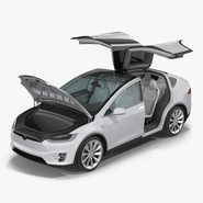 Tesla Model X Rigged. Preview 1