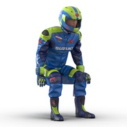 Motorcycle Rider Rigged for Maya. Preview 9