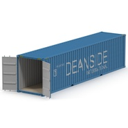 40 ft High Cube Container Blue 2. Preview 5