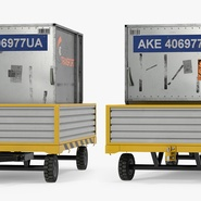 Airport Luggage Trolley with Container. Preview 6