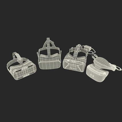 Virtual Reality Goggles Collection. Render 93