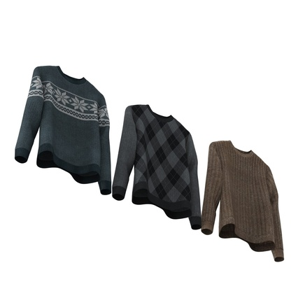 Sweaters Collection. Render 10