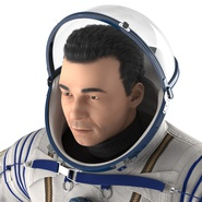 Russian Astronaut Wearing Space Suit Sokol KV2 Rigged for Maya. Preview 30