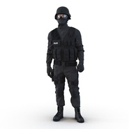 SWAT Man Mediterranean Rigged for Cinema 4D. Preview 7