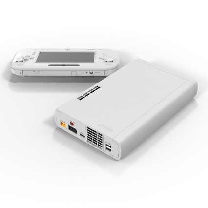 Nintendo Wii U Set White. Render 10