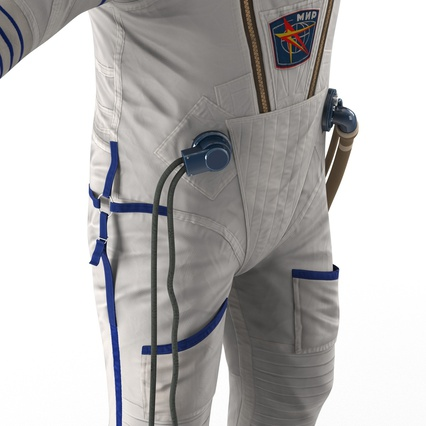 Russian Astronaut Wearing Space Suit Sokol KV2 Rigged for Maya. Render 37