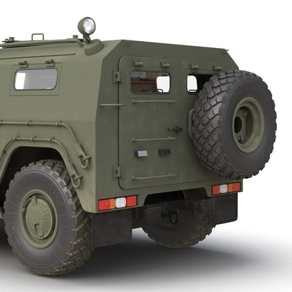 Russian Mobility Vehicle GAZ Tigr M Rigged. Render 37