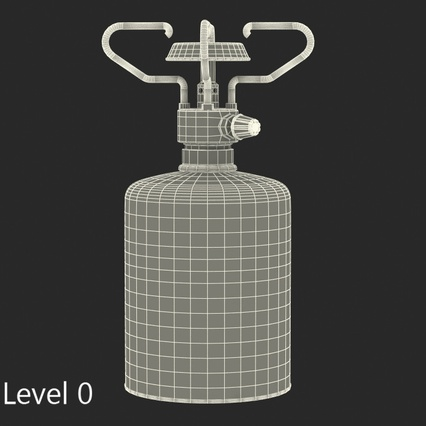 Gas Cylinder with Camping Stove. Render 13