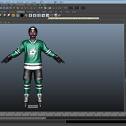 Hockey Player Stars Rigged for Maya. Preview 33