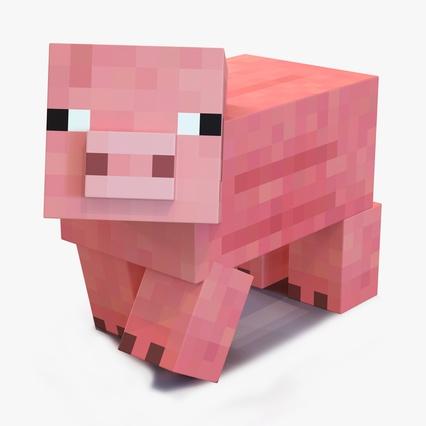 minecraft pig rigged 3d model farm clip art free printable labels farm scene clipart free