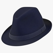 Fedora Hat Blue. Preview 1