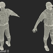 Baseball Player Rigged Athletics for Cinema 4D. Preview 21