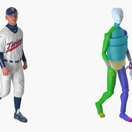 Baseball Player Rigged Twins 2. Render 19