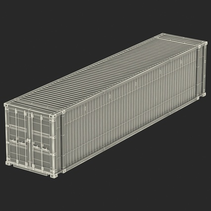 45 ft High Cube Container Blue. Render 36