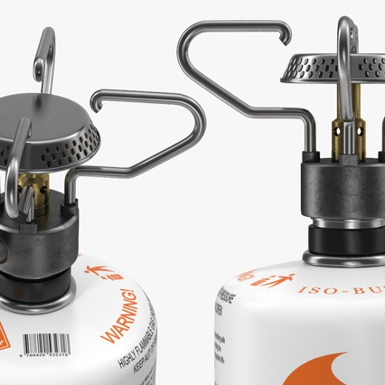 Gas Cylinder with Camping Stove Kovea. Render 12