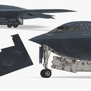 Stealth Bomber B-2 Spirit Rigged. Preview 12